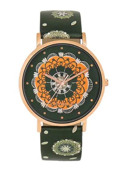 Chumbak Women Olive Green Analogue Watch 8907605051883