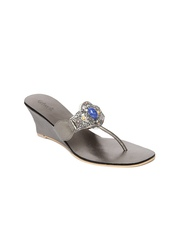 Catwalk Women Metallic Grey Wedges