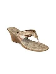 Inc 5 Women Gold toned Sandals