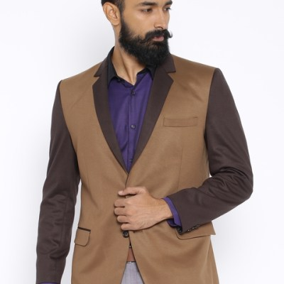 Four One Oh Brown Single-Breasted Blazer