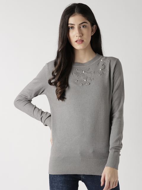 Fort Collins Women Grey Solid Pullover
