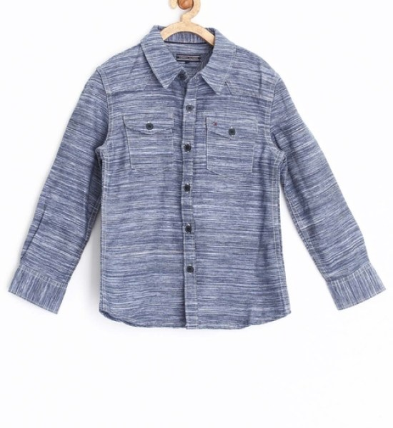 Tommy Hilfiger Boys Blue Patterned Shirt