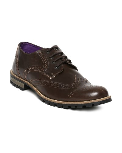 Knotty Derby Men Dark Brown Brogue Casual Shoes