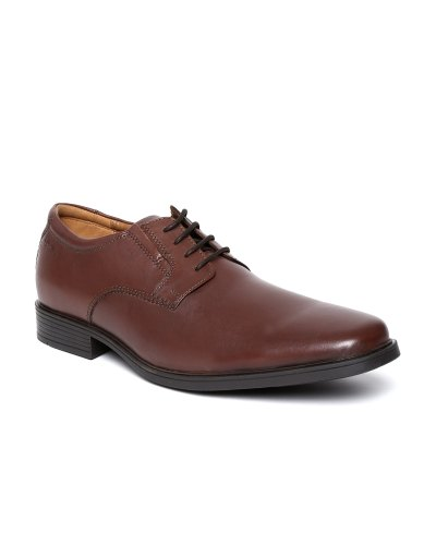 Clarks Men Brown Leather Formal Shoes