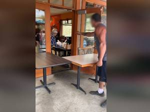 B.C. man yelling at restaurant staff