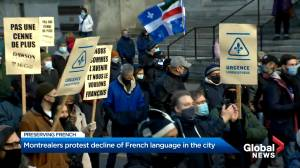 Quebec sovereigntists and French-language activists rally in Montreal (02:17)