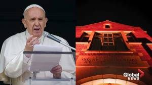 Pope calls for reconciliation, healing over residential school discovery (02:23)