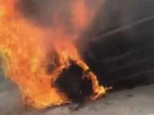 Vehicle fire along Trans-Canada Highway near Salmon Arm