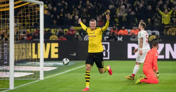 Teenager Haaland scores another two as Dortmund thump Cologne 5-1