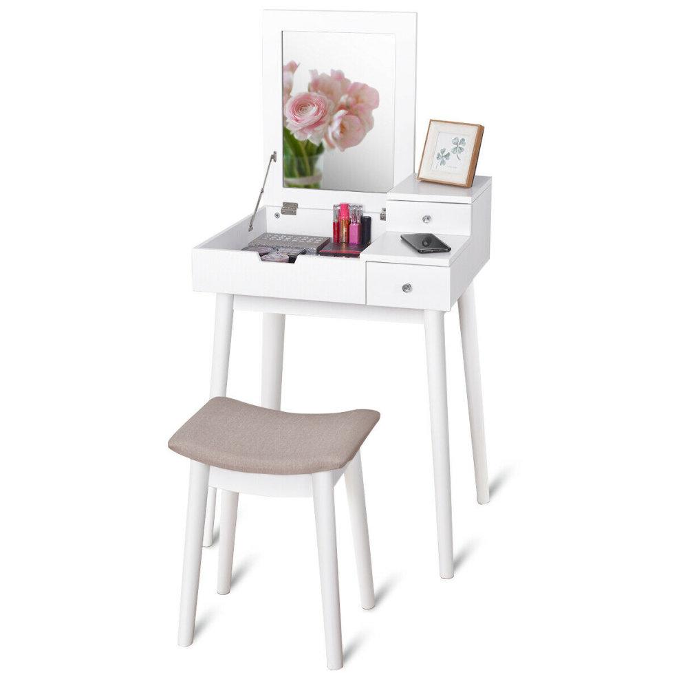 small white vanity table set white modern dressing table