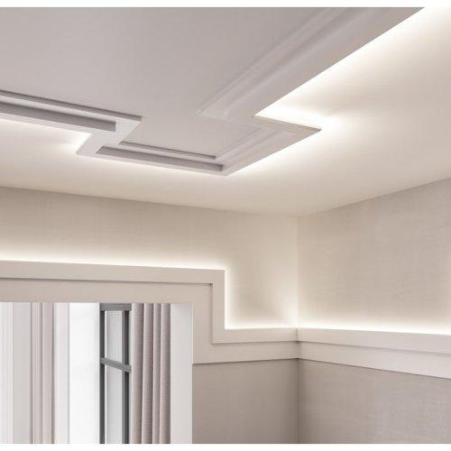 orac decor c395 modern steps cornice moulding for indirect lighting 2 m
