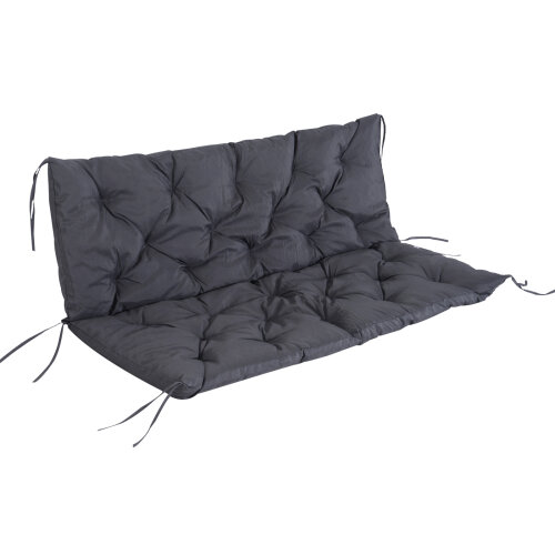 outsunny 3 seater replacement swing chair cushions patio garden bench seat pad