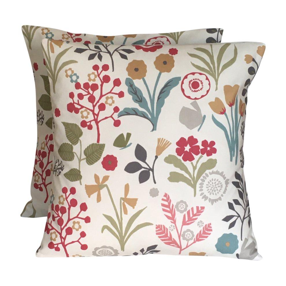 2 x 16 frida pastel pink blue green cushion covers