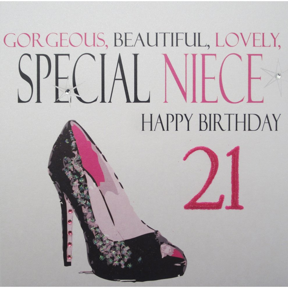 White Cotton Cards Gorgeous Special Niece Happy Birthday 21 On Onbuy