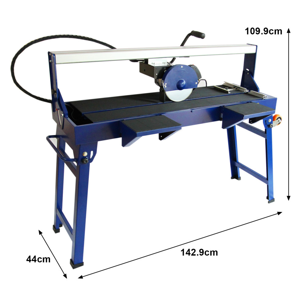 t mech wet saw tile cutter stand bench table diamond blade 1200mm