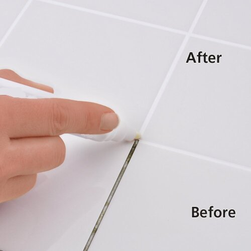 grout pen tile white coloured revives restores one coat anti mould clean