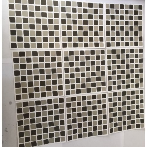 pack x 10 black mosaic tile stickers for 6inch wall tiles 5 8
