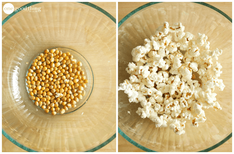 homemade popcorn in a microwave recipe