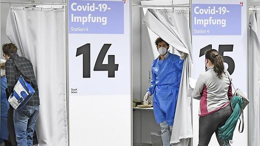 Impfungen im Austria Center Vienna