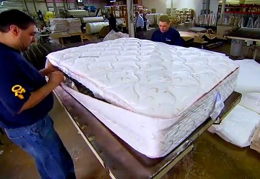 Original Mattress Factory Being Made