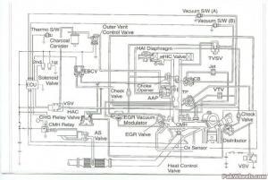 Vacuum diagram toyota 2e engine
