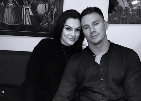 Jessie J e Channing Tatum em foto publicada no Instagram (Reprodução)