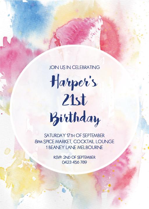 unique birthday invitation cards