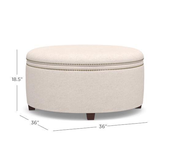 tamsen round storage ottoman