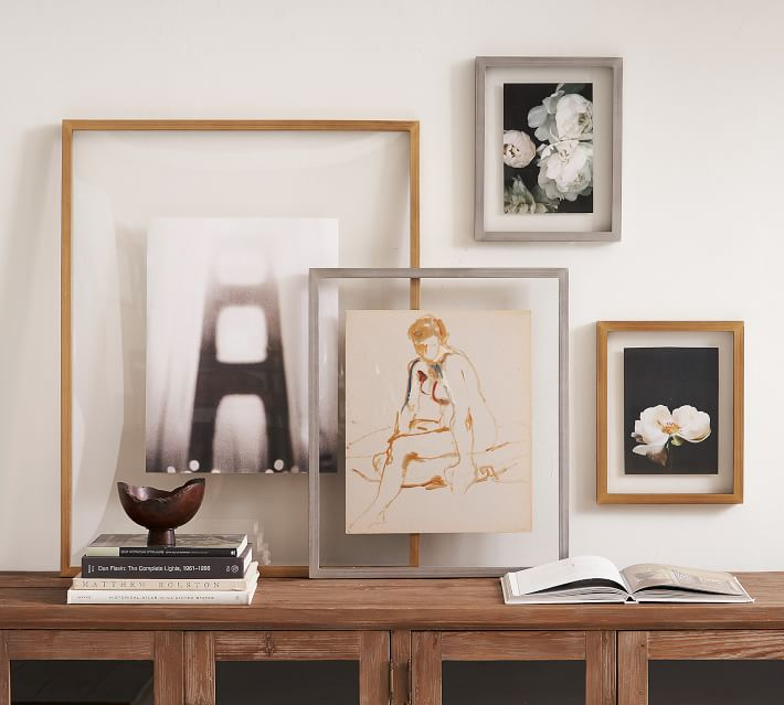 floating gallery picture frame metal