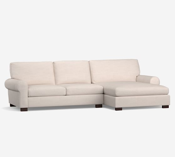 turner roll arm upholstered sofa double chaise sectional