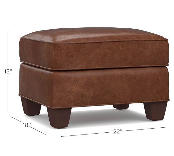 irving leather storage ottoman