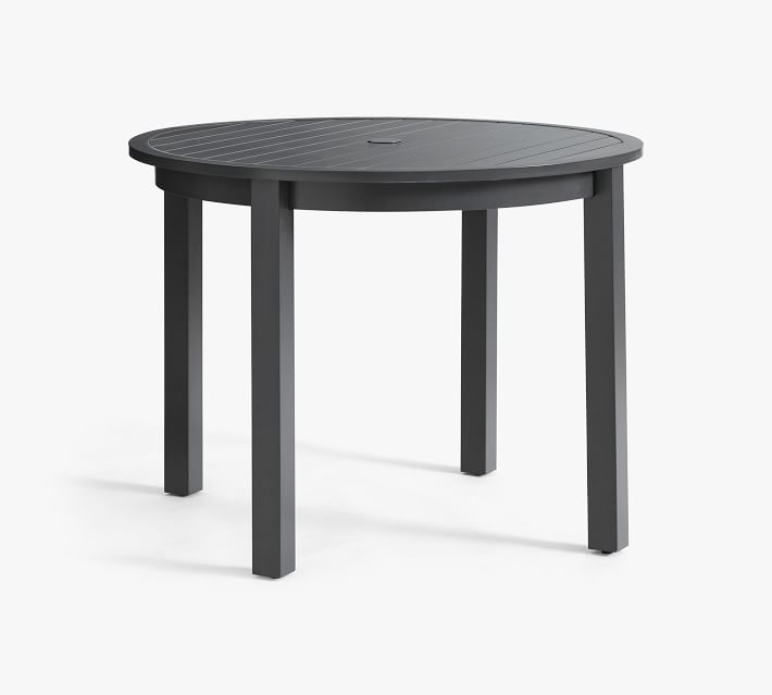 indio 40 metal round dining table slate