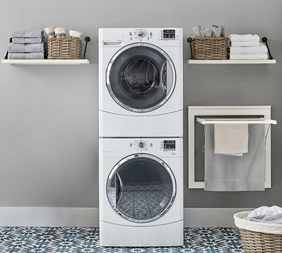 aubrey laundry drying rack with shelves
