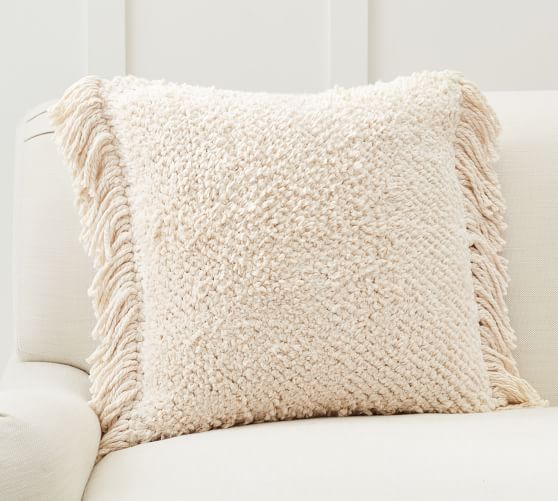 lucy textured chenille pillow cover