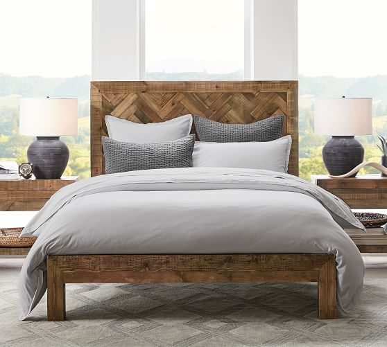 hensley reclaimed wood platform bed