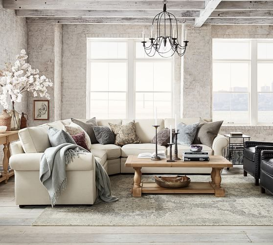 pearce upholstered 3 piece l sectional with wedge