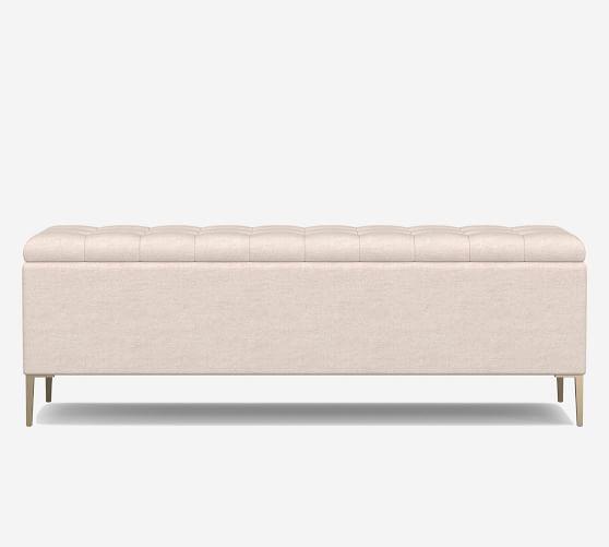 anya tufted upholstered storage bench