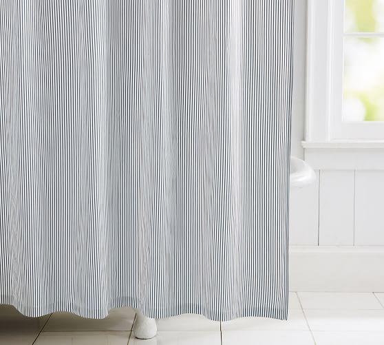 wheaton striped organic shower curtain