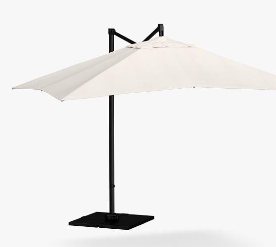 11 x 10 rectangular cantilever outdoor umbrella rustproof aluminum frame black