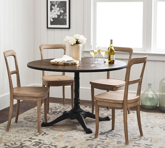 rae round pedestal bistro dining table