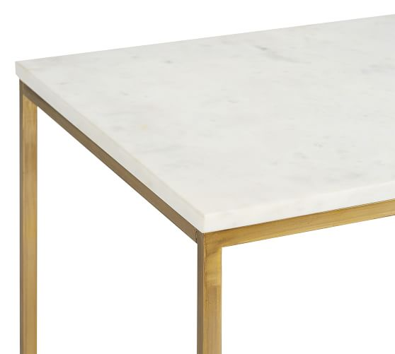 delaney 40 5 rectangular marble coffee table