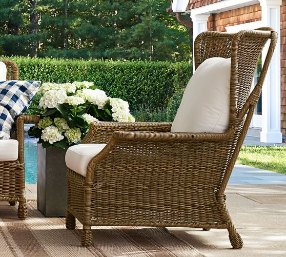 saybrook indoor outdoor all weather wicker wingback lounge chair