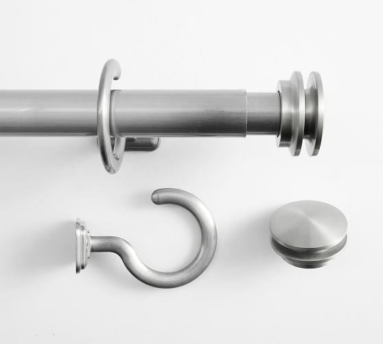 outdoor curtain rod end cap finial pewter finish