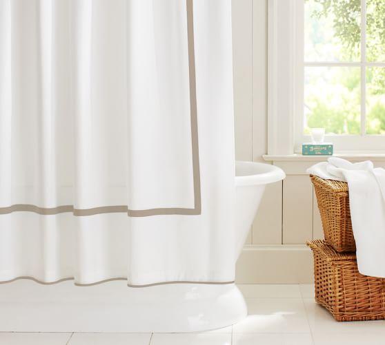 morgan banded organic shower curtain