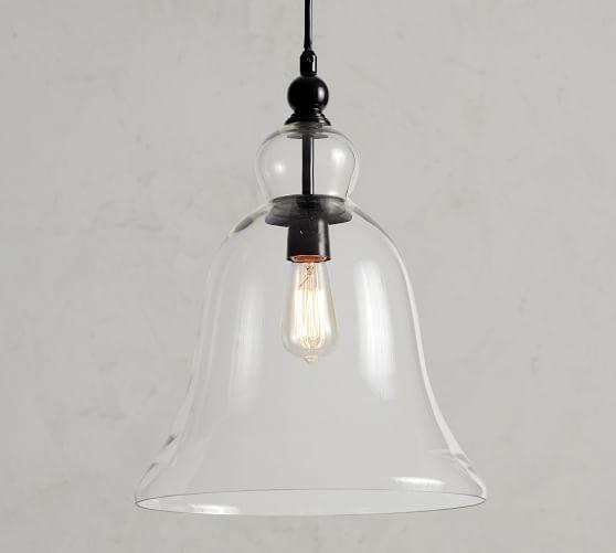 rustic glass outdoor pendant
