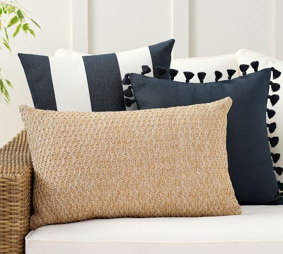 simple stripes ink indoor outdoor pillow set
