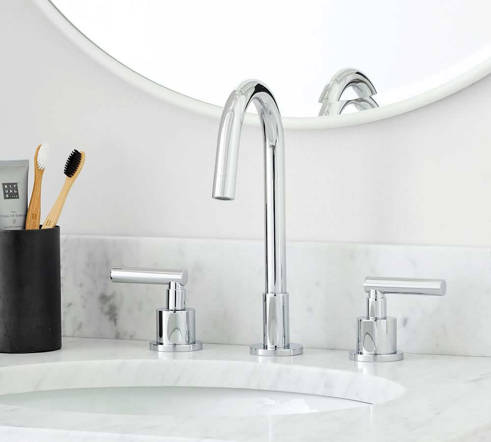 linden lever handle widespread bathroom sink faucet