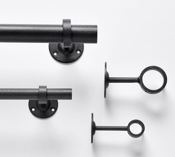 cast iron black curtain rod wall bracket