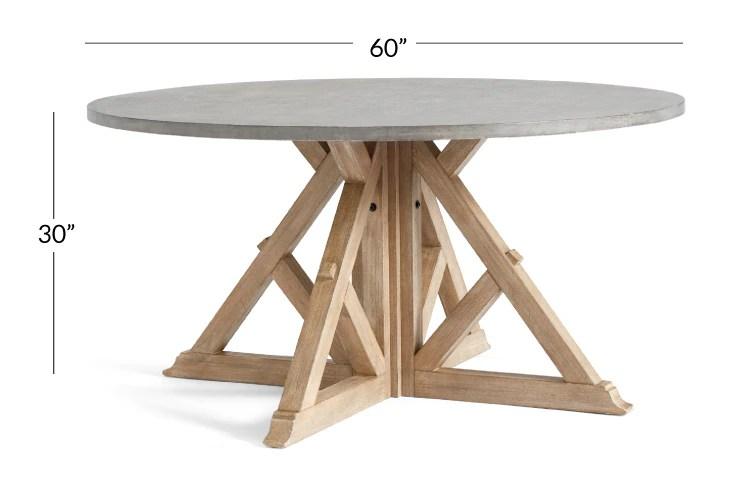 brooks round pedestal dining table