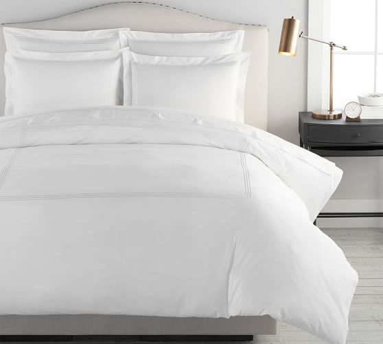Grand Organic Percale Duvet Cover Shams Pottery Barn